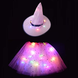 Light witch hat led glow skirt  Halloween dresses