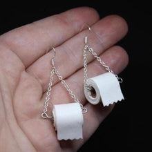 Load image into Gallery viewer, Sterling Silver Toilet Paper Earrings 2020 Best Gift