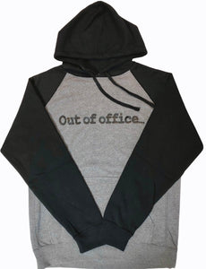 Black Hoodie with Contrasting Body