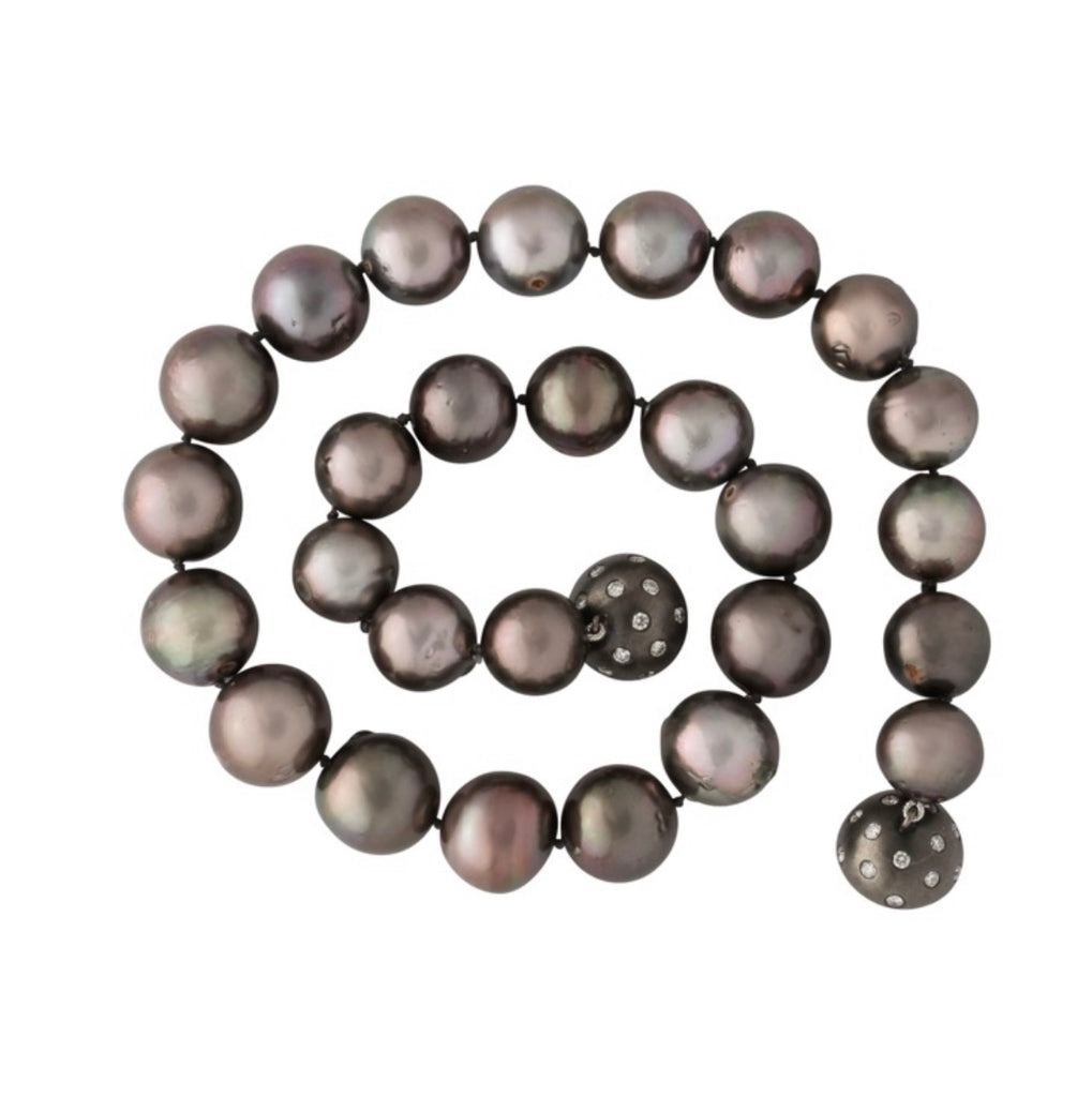 Special one of a kind graduating greige Tahitian South Sea Pearl Necklace