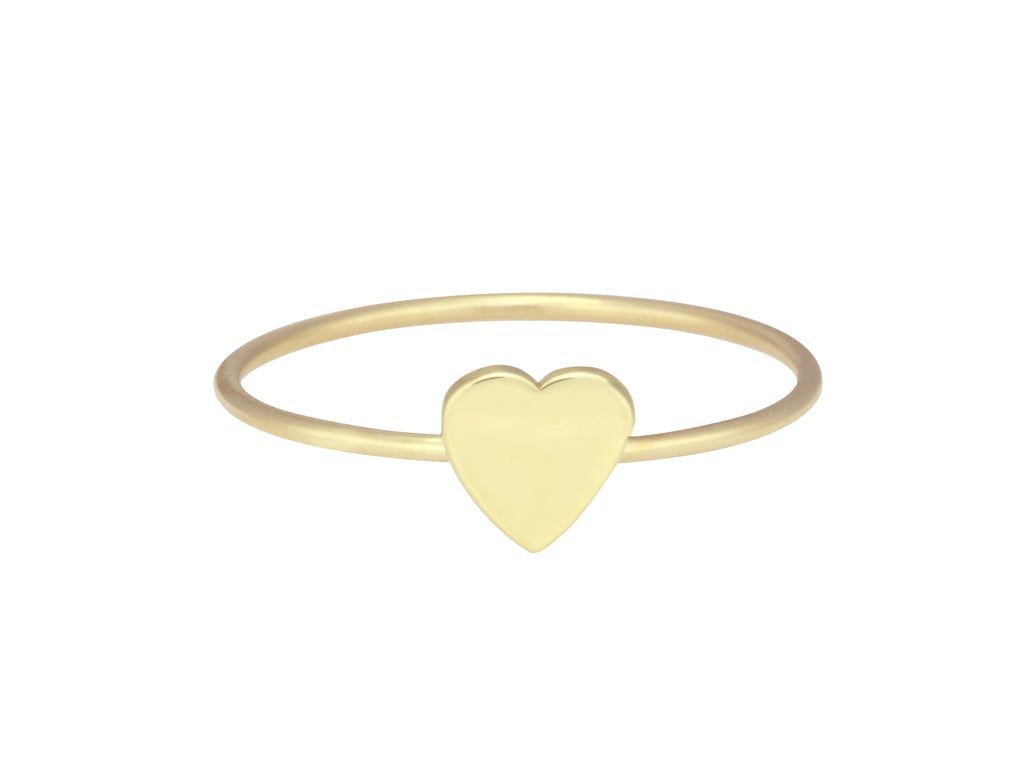 Extra Small Gold Heart Ring