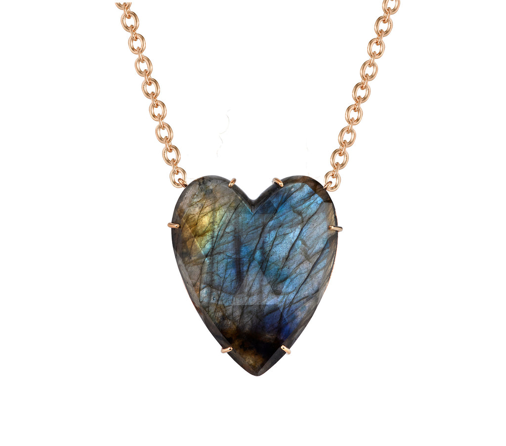 Extra Large Labradorite Love Necklace