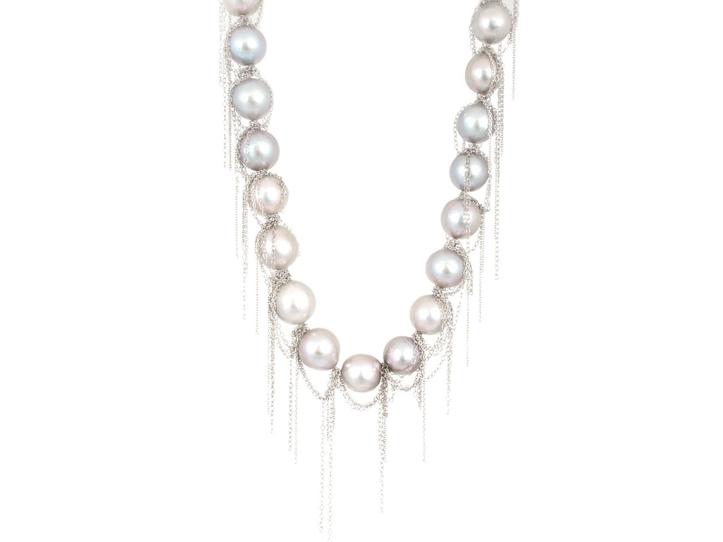 Fresh Water Pearl Fringe Necklace