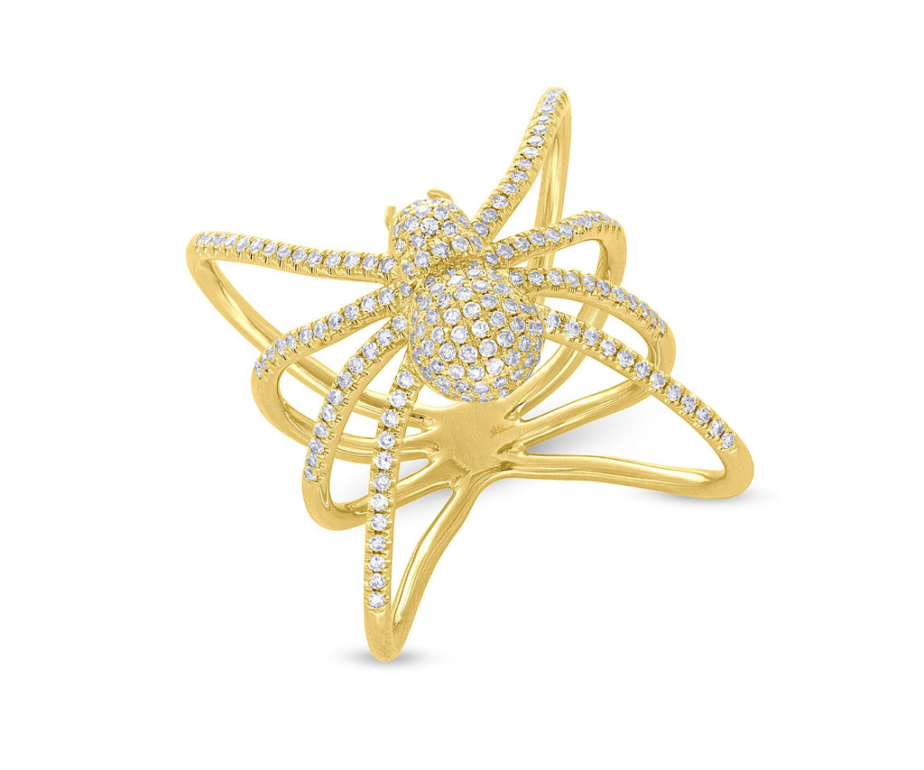 Diamond Spider Ring