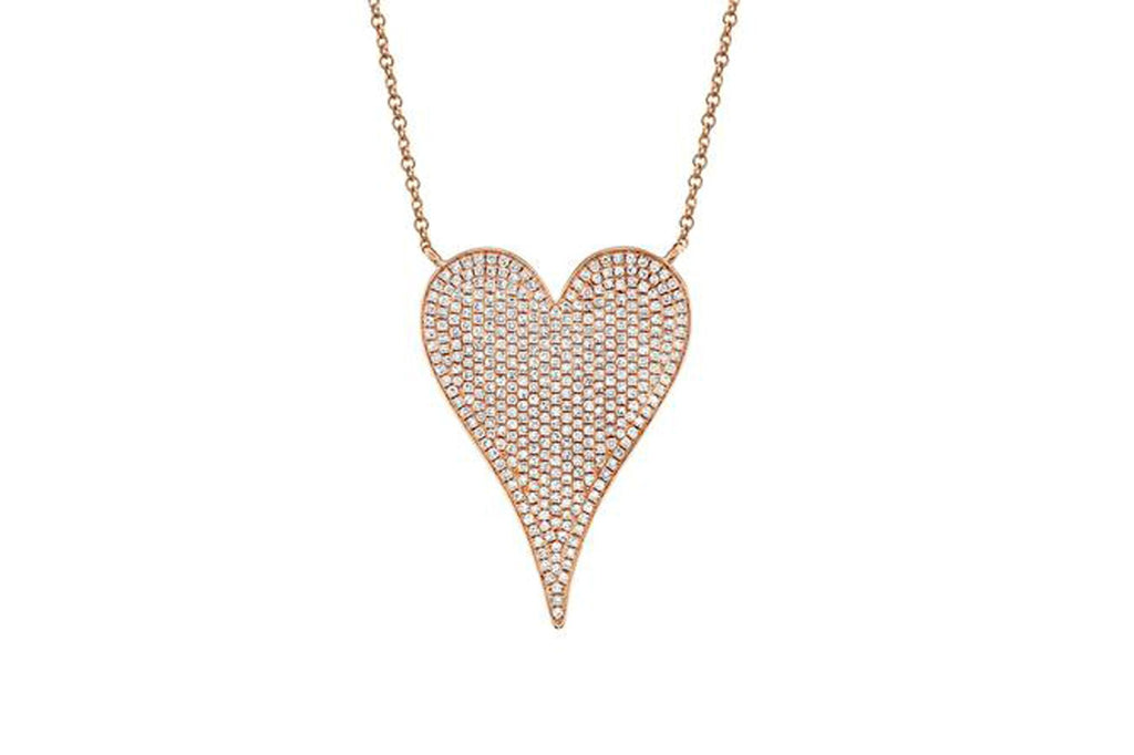 Pave Diamond Jumbo heart Necklace