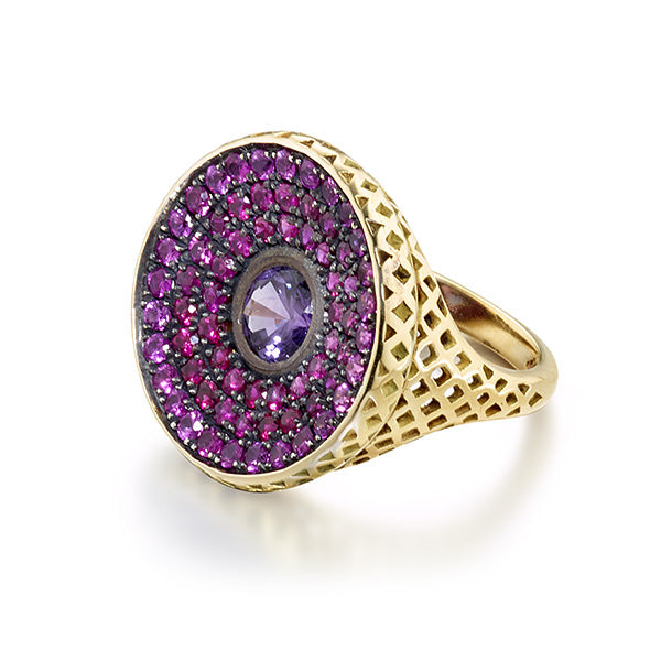 Pink Sapphire Signet Ring