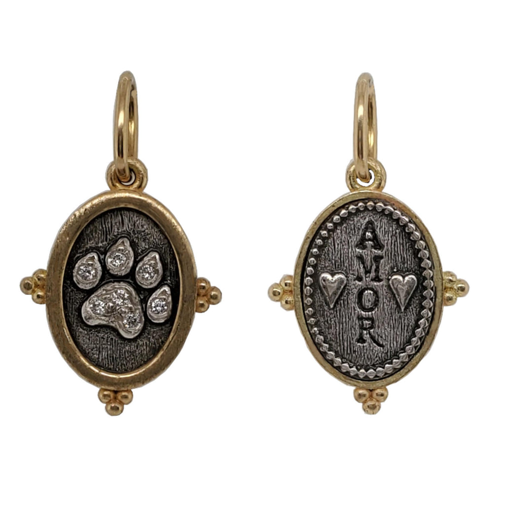 kitty paw charm