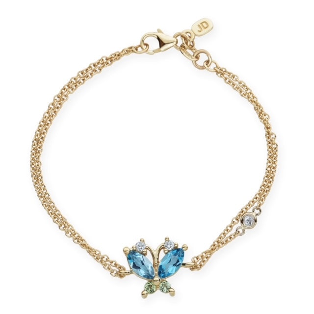 The Volare Butterfly Blue Topaz & Peridot Bracelet