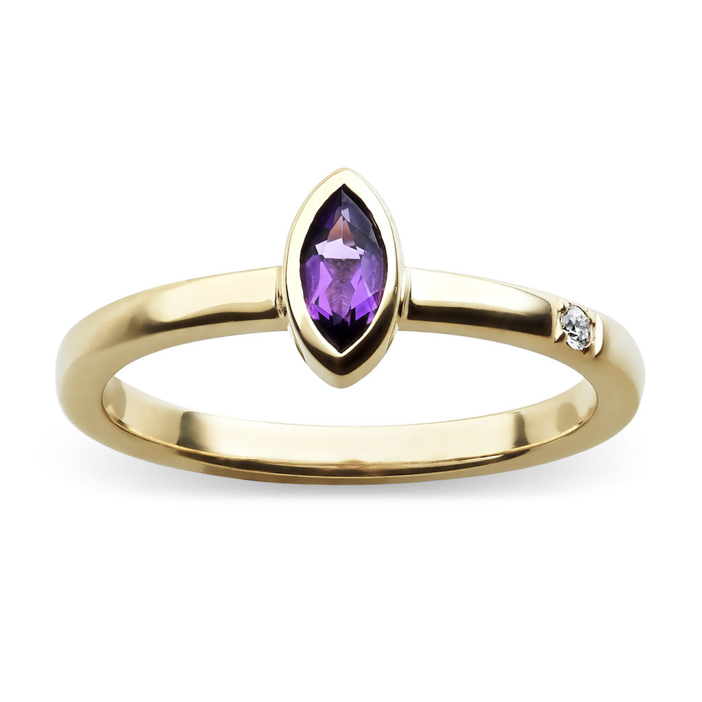 Marquis gemstone diamond chakra ring