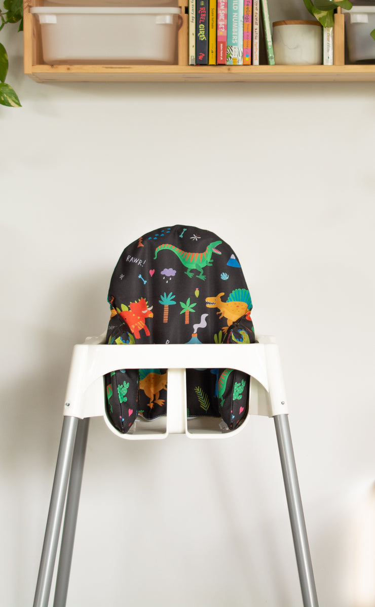 Highchair Cushion Cover - Limited edition prints - 6 Options