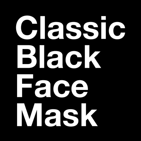 5 Pack - Classic Black Face Mask
