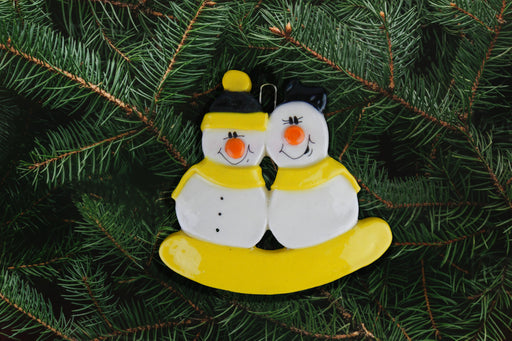 Snowman Family Yellow & Black