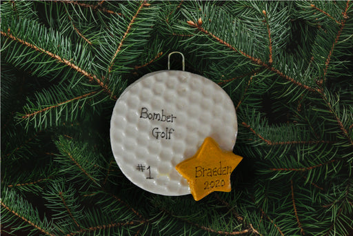 Golf Ball with Star Ornament