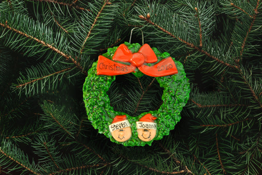 Wreath with Heads - DoughDelights