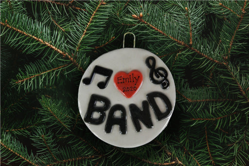 I Heart Band Ornament