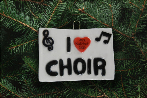 I Heart Choir Ornament