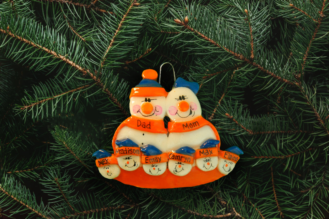 Snowman Family Orange Blue - DoughDelights