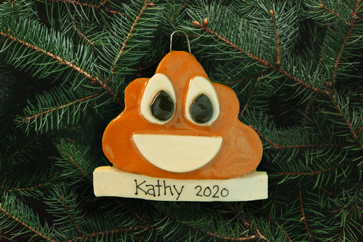 Poop Emoji Ornament - DoughDelights
