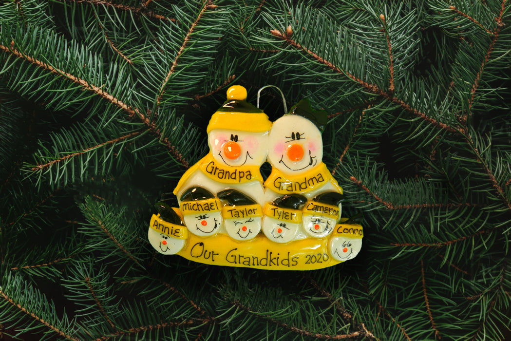 Snowman Family Yellow-Black - DoughDelights