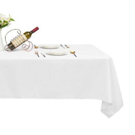 "10 pcs 60"" x 126"" Rectangle Polyester Tablecloth-White"