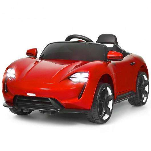 12V Kids Ride On Car with MP3 & LED Light-Red
