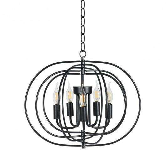 "16"" Folding Rotatable Chandelier 5 Lights Metal Ceiling Lamp"