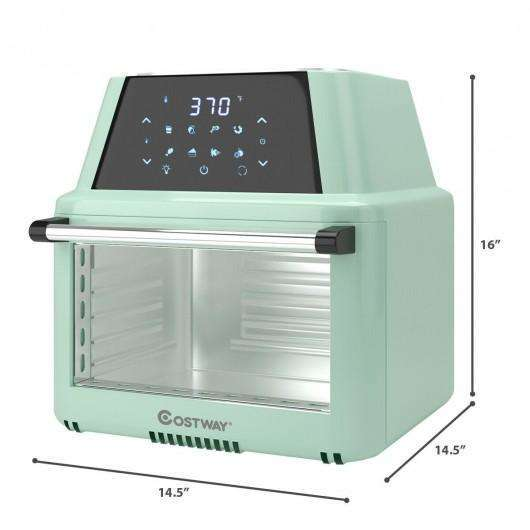 19 QT Multi-functional Air Fryer Oven 1800W Dehydrator Rotisserie-Green