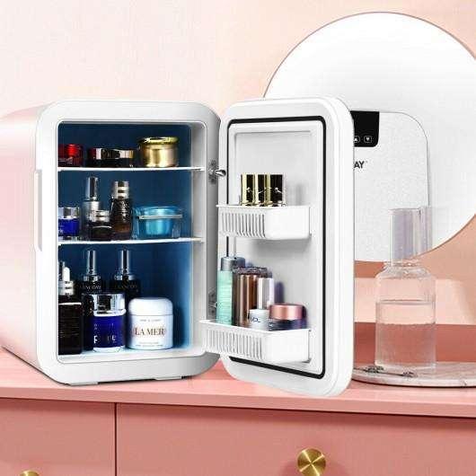 20L Compact Portable Makeup Skincare Fridge-White