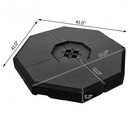 4 Pcs Patio Cantilever Offset Umbrella Weights Base Plate Set