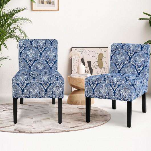 Armless Accent Upholstered Fabric Dining Chair