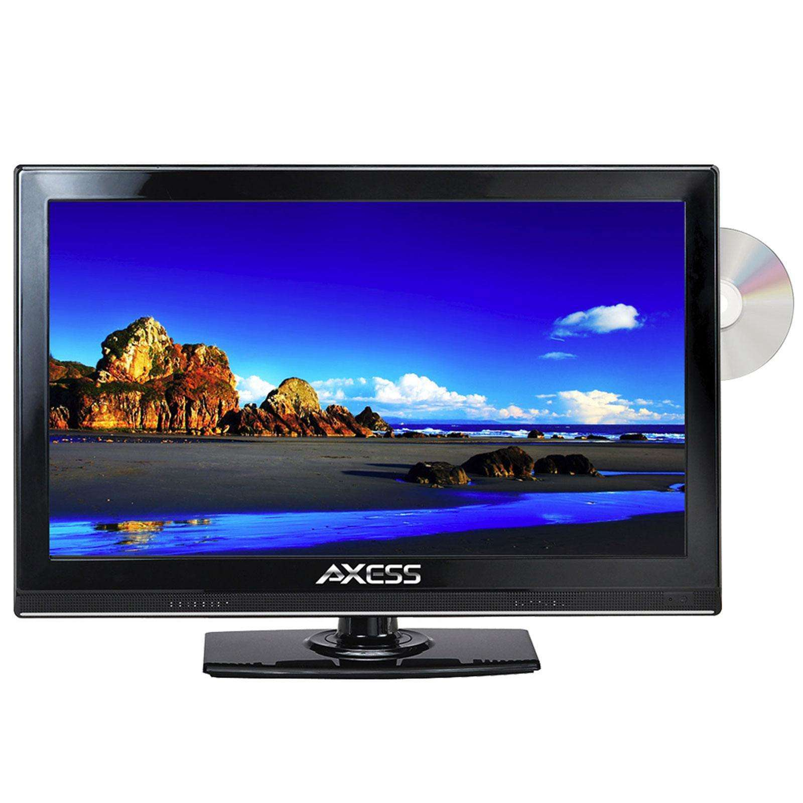 "Axess 15.4"" LED AC-DC TV with DVD Player Full HD with HDMI, SD card reader and USB"