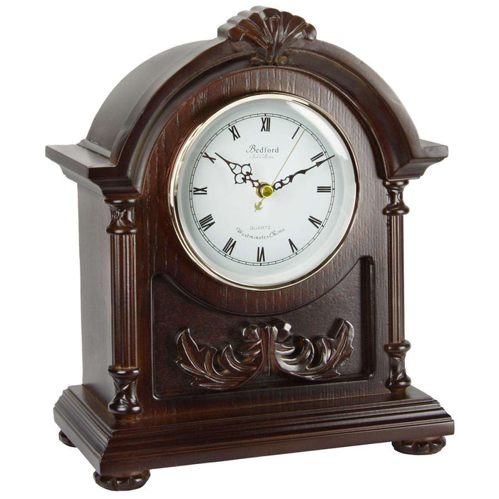 Bedford Clock Collection Wood Mantel Clock with Chimes - Reconditioned