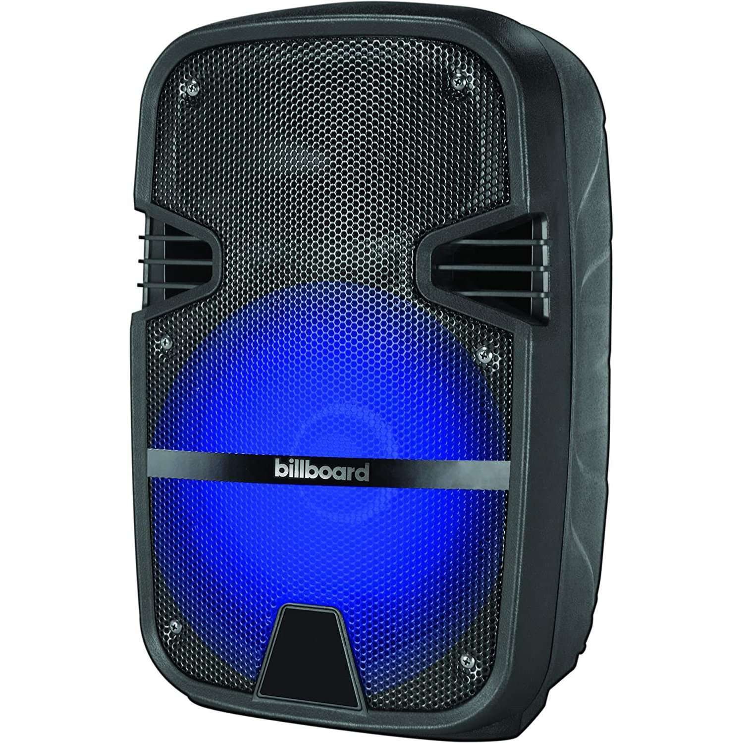 "Billboard PS-3 8"" Rechargeable Bluetooth Party Speaker with USB/Micro SD/AUX/FM Radio and Colored LED Lights"