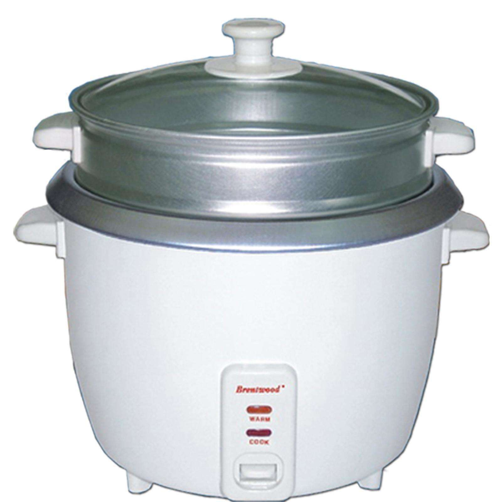Brentwood 5 Cup Rice Cooker-Non-Stick with Steamer