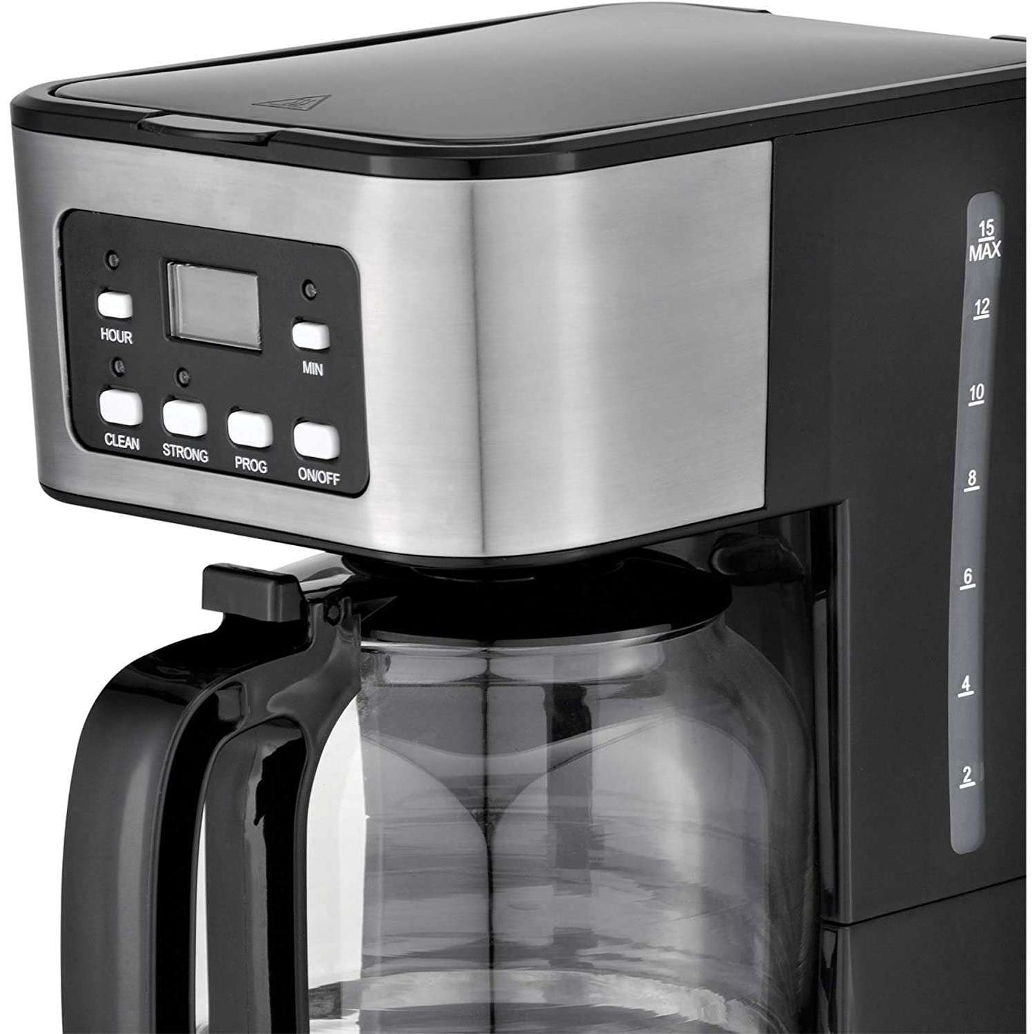 Brentwood TS222BK BTWTS222BK 12-Cup Digital Coffee Maker, One Size, Black