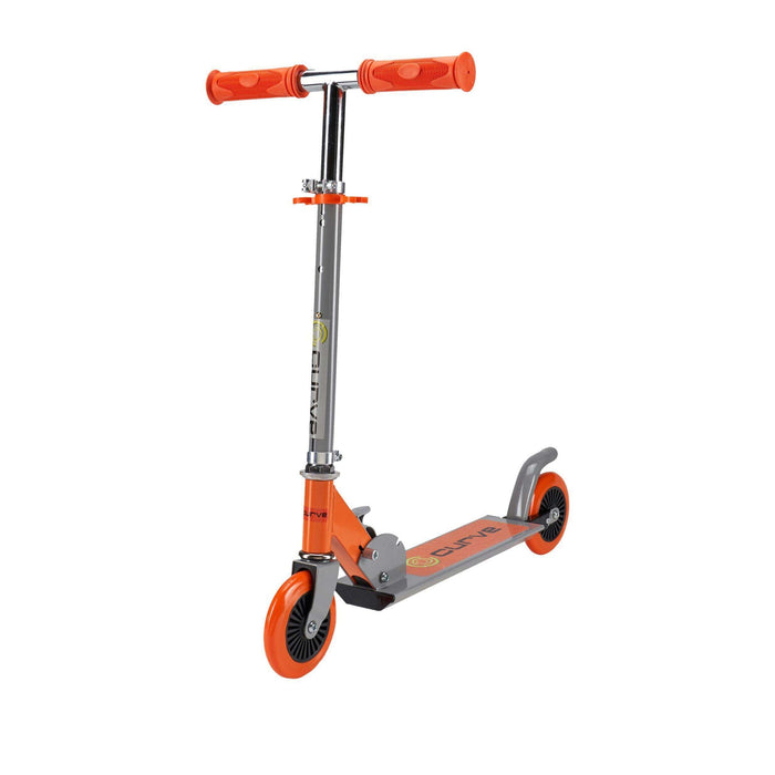 Curve Standard Folding Folding Lightweight Scooter in Orange