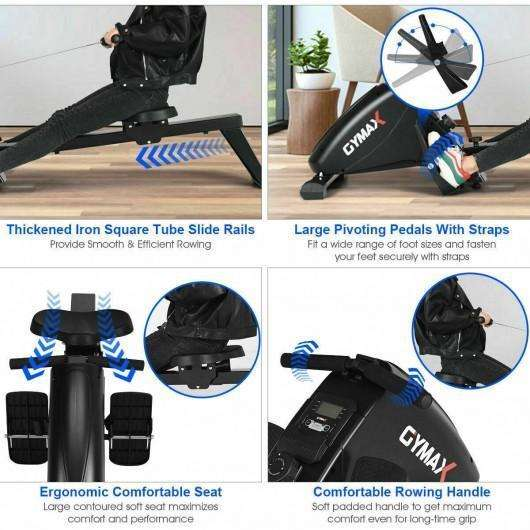 Foldable Rowing 10-Level Tension Resistance System Machine