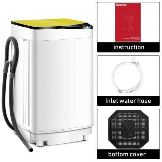 Full-automatic Washing Machine 10 lbs Washer - Spinner Germicidal-Yellow