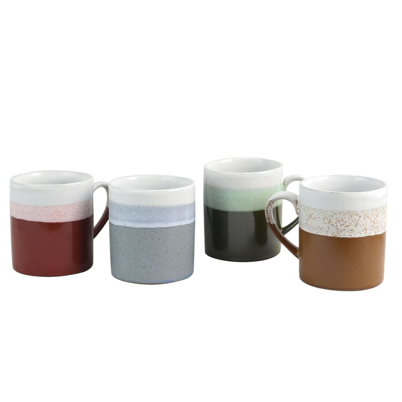 Gibson Home Terra Firma 23 oz. Mug Set in Assorted Colors, Set of 4