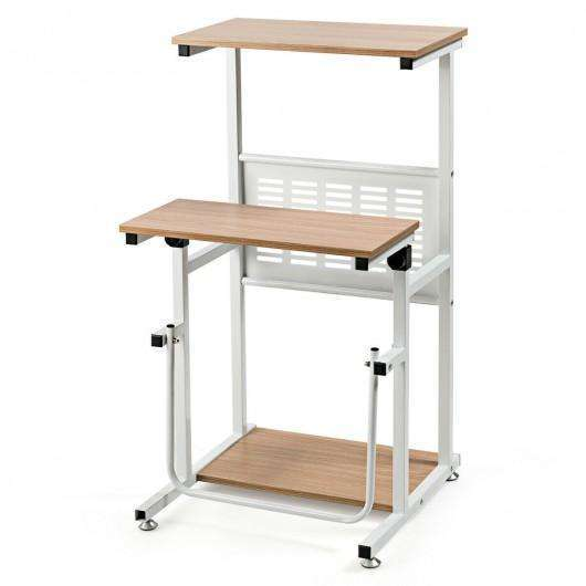 Height Adjustable Stand Up Desk Computer Workstation