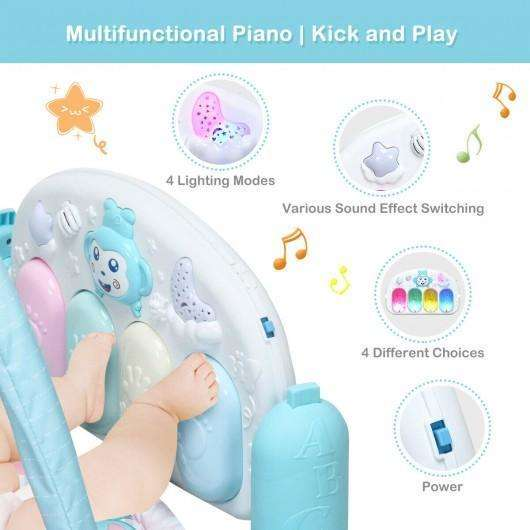 Newborn Infant Play Gym Mat w- Play Piano Toys