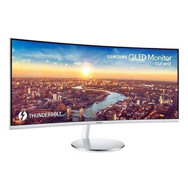 Samsung 34in, 21:9, Thunderbolt3x2, White Curved Va Panel 1500r, 3440x1440, Adj Stand,dp