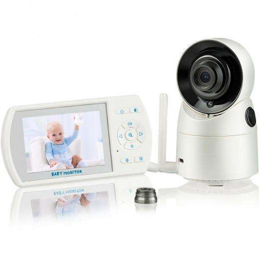 Security Video Baby Monitor with Tilt-Zoom Auto Camera