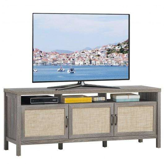 "Storage TV Stand Entertainment Media Center for TV's up to 65""-Gray"
