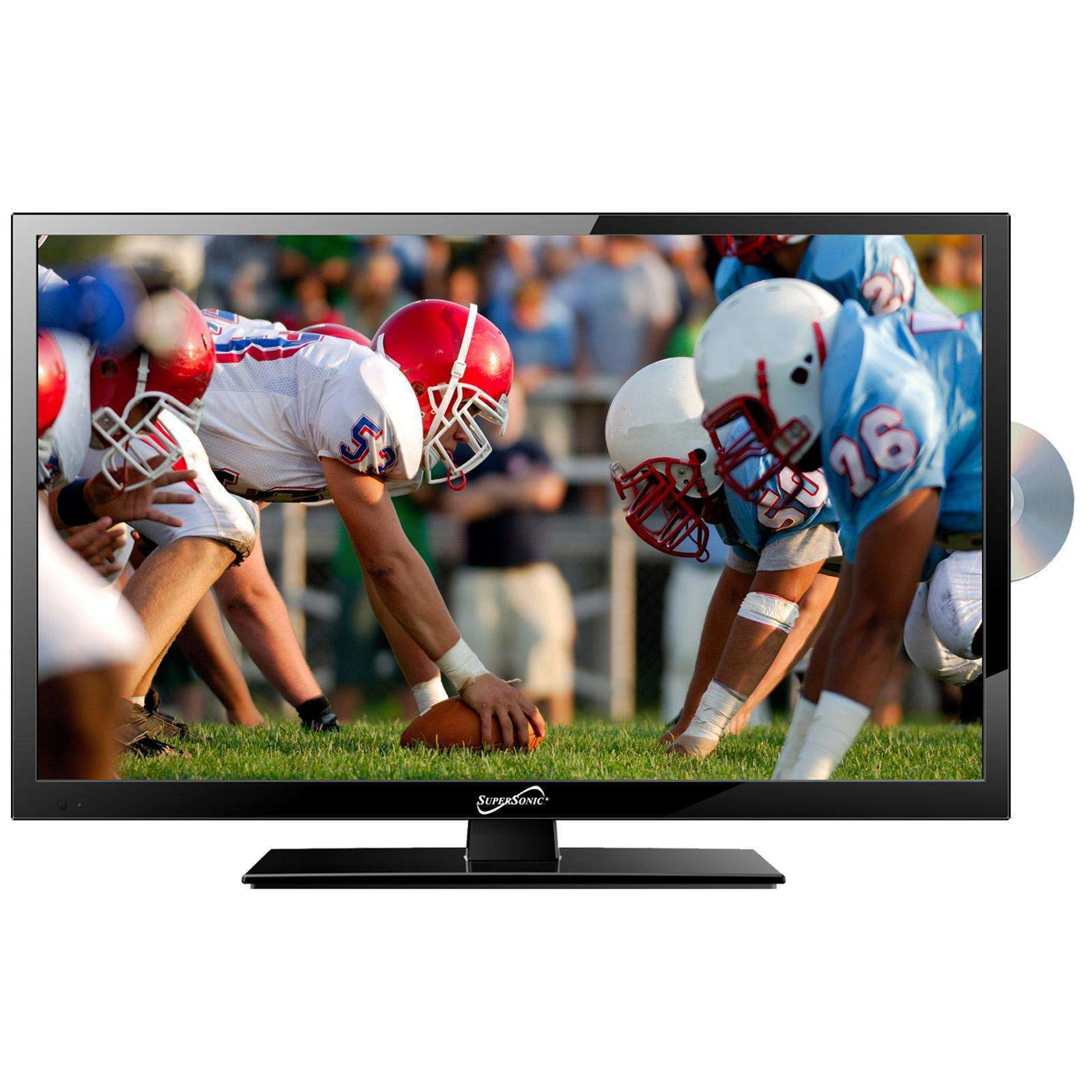 "Supersonic 19"" LED HDTV with DVD, USB-SD, HDMI INPUTS"