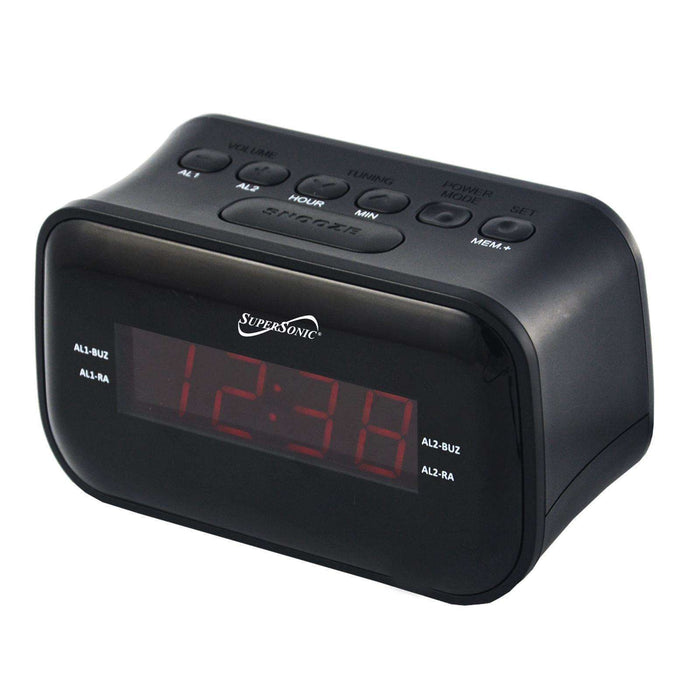 Supersonic Dual Alarm Clock Radio with Wireless Connectivity