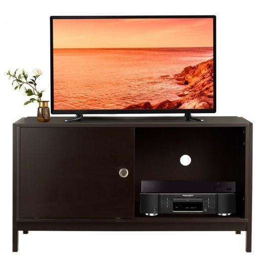 TV Stand Modern Entertainment Cabinet with Sliding Doors-Coffee