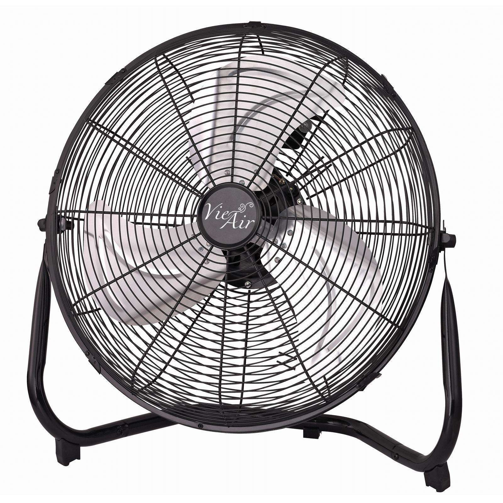 "Vie Air 14"" Industrial High Velocity Heavy Duty Metal Floor Fan with 3 Speed Settings - Reconditioned"