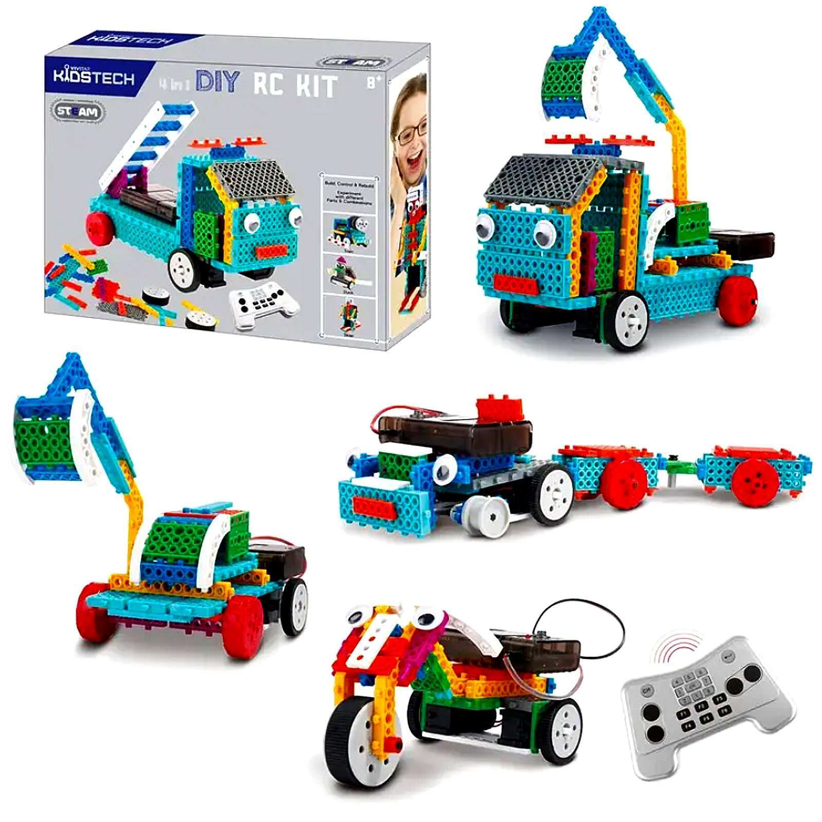 Vivitar KidsTech 4-in-1 RC Construction Vehicles Kit