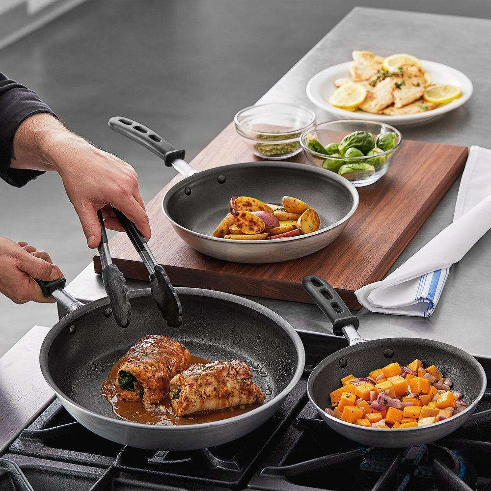 Vollrath Wear-Ever Stunning 3-Pcs Aluminum Non-Stick Fry Pan Set PowerCoat2 & Silicone Handles